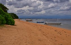 Landscape Sanur Beach Bali nice view royalty free stock image