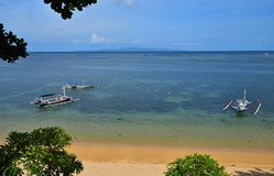 Landscape Sanur Beach Bali nice view royalty free stock photo
