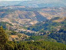 Landscape from Sao Leonardo da Galafura viewpoint in Douro Valley, one of the most beautiful sights of all the Douro region, Peso. The landscape from Sao Royalty Free Stock Images