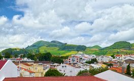Landscape of Sao Miguel island, Azores, Portugal Royalty Free Stock Photos