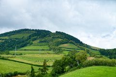 Landscape on Sao Miguel island, Azores, Portugal Royalty Free Stock Photo
