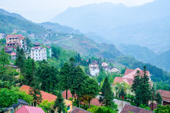 Landscape of sapa village Royalty Free Stock Images
