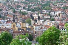 landscape sarajevo view 库存照片