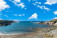 Landscape of sardinian coast. Sea, blue, travel, water, summer, nature, sardegna, mediterranean, italy, bay, sky, europe, scenic, island, beach, rock, vacation royalty free stock photo