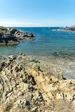 Landscape of sardinian coast. Of Coscia di donna, in north-west Sardinia, in a sunny day, sea, blue, travel, water, summer, nature, sardegna, mediterranean royalty free stock photo