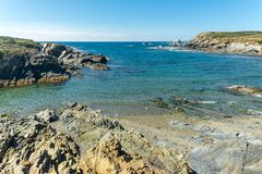 Landscape of sardinian coast. Of Coscia di donna, in north-west Sardinia, in a sunny day, sea, blue, travel, water, summer, nature, sardegna, mediterranean royalty free stock images