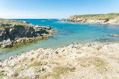 Landscape of sardinian coast. Of Coscia di donna, in north-west Sardinia, in a sunny day, sea, blue, travel, water, summer, nature, sardegna, mediterranean stock images