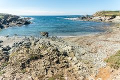 Landscape of sardinian coast. Of Coscia di donna, in north-west Sardinia, in a sunny day, sea, blue, travel, water, summer, nature, sardegna, mediterranean royalty free stock image