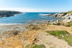 Landscape of sardinian coast. Of Coscia di donna, in north-west Sardinia, in a sunny day, sea, blue, travel, water, summer, nature, sardegna, mediterranean stock photo