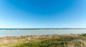 Landscape of sardinian coast. At Le Saline, near Stintino, in the north Sardinia, sea, blue, travel, water, summer, nature, sardegna, mediterranean, italy, bay stock image