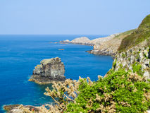 Landscape of the Sark Island, Guernsey, Channel Islands Royalty Free Stock Images