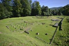 Landscape of Sarmizegetusa Regia Dacian city Royalty Free Stock Image