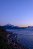 Landscape of the Satta pass at dawn in Shizuoka, Japan Stock Images