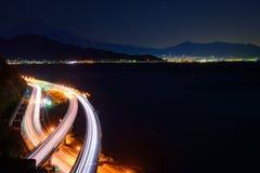 Landscape of the Satta pass at dawn in Shizuoka, Japan Royalty Free Stock Image