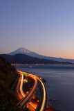 Landscape of the Satta pass at dawn in Shizuoka, Japan Stock Image