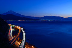 Landscape of the Satta pass at dawn in Shizuoka, Japan Royalty Free Stock Image