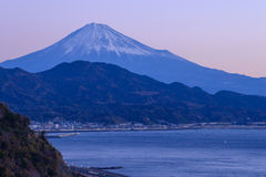 Landscape of the Satta pass at dawn in Shizuoka, Japan Royalty Free Stock Photos