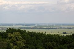 Landscape in Saxony Anhalt. In central Germany Royalty Free Stock Photography