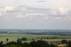 Landscape in Saxony Anhalt. In central Germany Royalty Free Stock Image