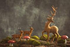Reindeer Scene Royalty Free Stock Image