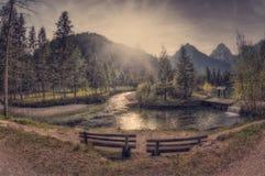 Landscape scene at Schiederweiher Royalty Free Stock Image