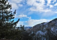 Landscape Scenery, Maricopa County, Oak Creek Canyon, Arizona, United States. Spring landscape scenery view of the mountains and area vegetation from Oak Creek royalty free stock images