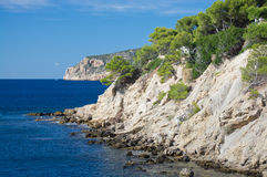 Landscape scenery. In Sant Elm, San Telmo, Mallorca, Balearic islands, Spain Royalty Free Stock Images
