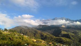 Landscape scenery view of mountain Kinabalu royalty free stock photos