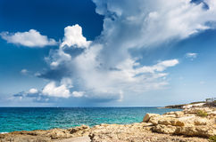 Landscape with scenic clouds on the sea. Malta Stock Photography