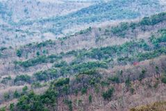 Blue Ridge Mountains in the Chattahoochee National Forest. Landscape scenic view of the Blue Ridge Mountains in the Chattahoochee National Forest in the north stock photo