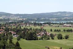 Landscape from Schloss Neuschwanstein, Bavaria Stock Photo