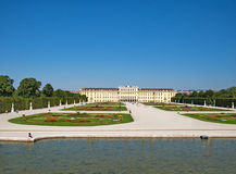 Landscape of the Schonbrunn Palace in Vienna Stock Photos