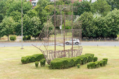 Landscape sculpture in Burgas, Bulgaria royalty free stock photo