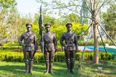 Landscape sculpture, a military honor guard Royalty Free Stock Photo