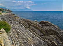 Landscape of sea. Beautiful sea landscape with rocks and blue sky royalty free stock image