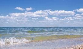 Landscape with sea. Summer landscape with sea and blue sky Stock Photos