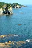 Landscape of sea beach. In Dalian, China royalty free stock photos