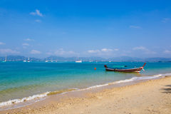 Landscape the sea, the boat in a bay of  a chalong Stock Images