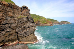 Landscape of sea and cliff at Brazil. Landscape of Cliff and ocean near Buzios, Rio de Janeiro, Brazil Royalty Free Stock Images