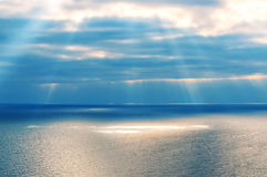 Landscape, sea, clouds Royalty Free Stock Images