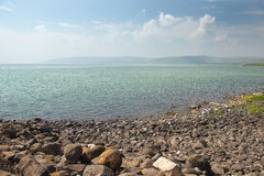 Landscape of Sea of Galilee  Kinneret  near Capernaum, Israel Stock Photography