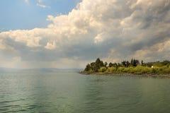 Landscape of Sea of Galilee  Kinneret  near Capernaum, Israel Stock Photo