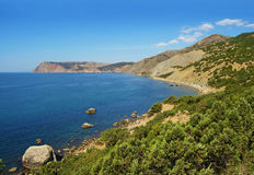 Landscape with sea and mountains Stock Photography