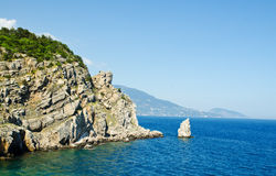 Landscape with sea and mountains Royalty Free Stock Image