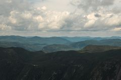 Landscape of the sea and the mountains stock photography