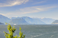 Landscape of sea and mountains Royalty Free Stock Photos