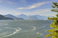 Landscape of sea and mountains Royalty Free Stock Images