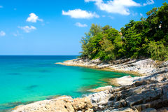The landscape of Sea and Shore filmed in Thailand Royalty Free Stock Photos