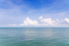 Landscape of sea sky and cloud Royalty Free Stock Image
