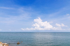 Landscape of sea sky and cloud summer in Thailand Stock Photography
